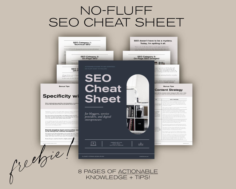Free SEO Cheat Sheet download